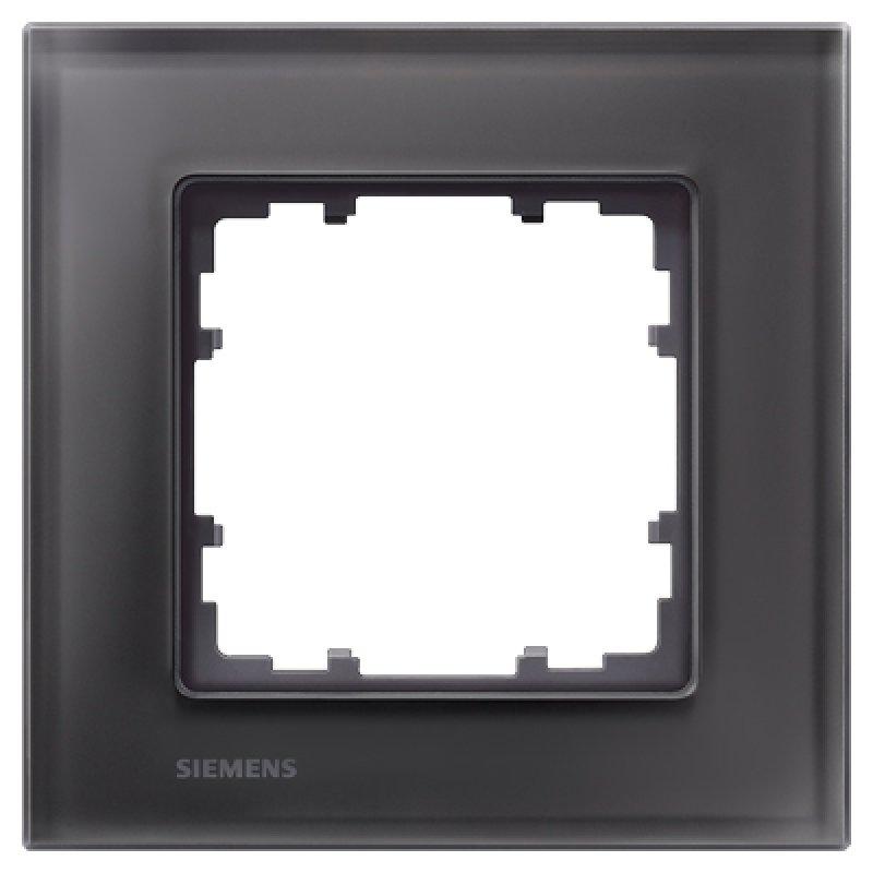 Siemens Glas-Rahmen DELTA miro 1fach - schwarz 5TG12012, 21,95 €