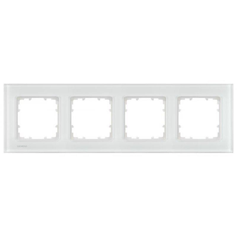 Siemens Glas-Rahmen DELTA miro 4fach - weiß 5TG12041, 81,95 &eu